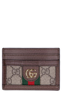 Ophidia GG supreme fabric card holder, Wallets Gucci woman