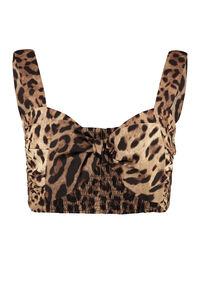 Top in popeline di cotone, Top cropped Dolce & Gabbana woman