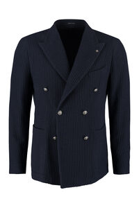 Double-breasted corduroy jacket, Double breasted blazers Tagliatore man