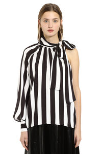 Striped viscose-twill blouse, Blouses MSGM woman