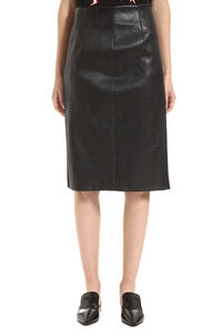 Pencil skirt with zip, Leather skirts Prada woman