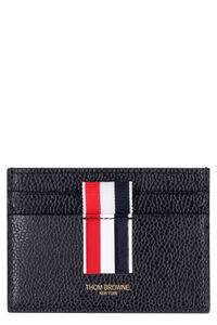 Pebbled leather card holder, Wallets Thom Browne man