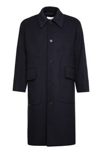 Single-breasted long coat, Overcoats MSGM man