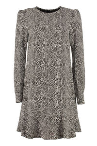 Dress with raffled edges, Printed dresses MICHAEL MICHAEL KORS woman