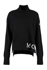 Wool and cachemire turtleneck pullover, Turtleneck sweaters Moncler woman