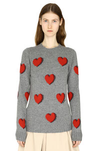 Crew-neck virgin wool sweater, Crew neck sweaters Prada woman
