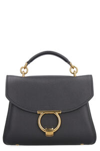 Gancini pebbled leather handbag, Top handle Salvatore Ferragamo woman