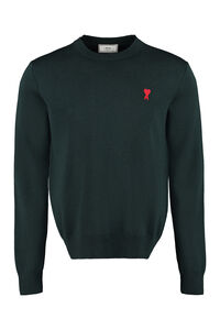 Merino wool crew-neck sweater, Crew necks sweaters AMI PARIS man