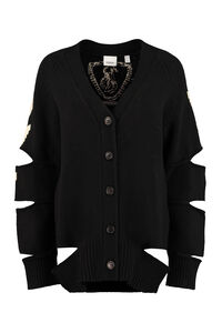 Wool and cashmere cardigan, Cardigan Burberry woman