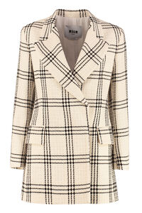 Giacca doppiopetto in tweed, Blazer MSGM woman