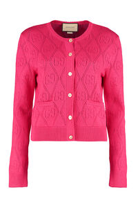 Open-work cardigan with GG pattern, Cardigan Gucci woman
