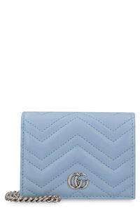 GG Marmont quilted leather wallet on chain, Wallets Gucci woman
