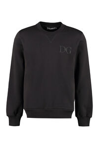 Logo detail cotton sweatshirt, Sweatshirts Dolce & Gabbana woman