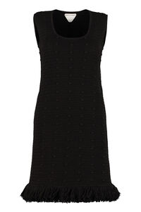 Fringed knit dress, Mini dresses Bottega Veneta woman