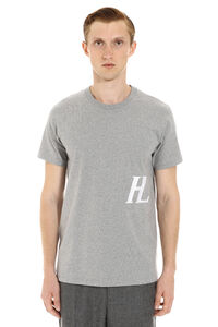 Logo print cotton t-shirt, Short sleeve t-shirts Helmut Lang man