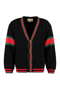 Cable knit cardigan, Cardigans Gucci man