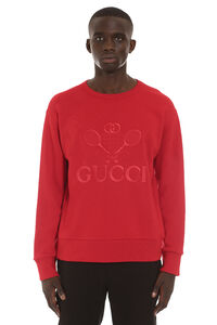 Embroidered cotton sweatshirt, Sweatshirts Gucci man