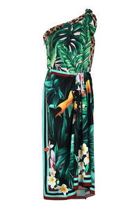Draped one shoulder dress, Printed dresses Dolce & Gabbana woman