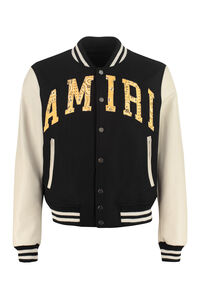 Leather sleeves bomber jacket, Bomber jackets AMIRI man