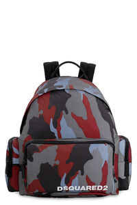Camouflage print nylon backpack, Backpack Dsquared2 man