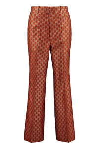 Jacquard motif trousers, Flared pants Gucci woman