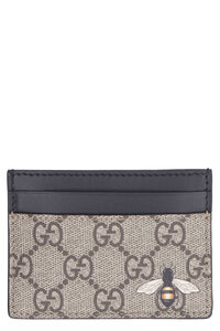 GG Supreme leather and fabric card holder, Wallets Gucci man