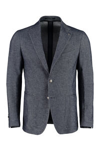 Cotton blend single-breast jacket, Double breasted blazers Tagliatore man