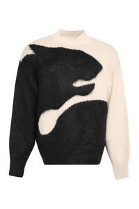 Tiger shadow intarsia sweater, Turtleneck Kenzo man