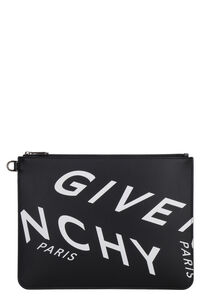 Logo print flat pouch, Poches Givenchy man