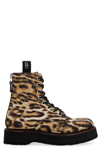 Printed platform combat boots, Ankle Boots R13 woman