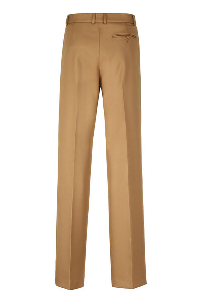 Drill wide-leg trousers
