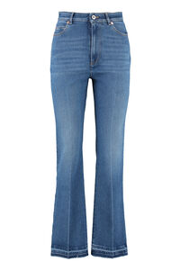 Flared jeans with frayed hem, Flared Jeans Valentino woman