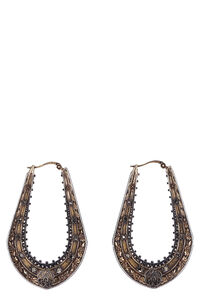 Embellished antique gold-tone earrings, Earrings Alexander McQueen woman
