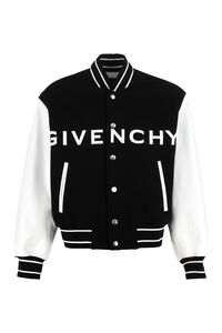Wool and leather bomber jacket, Bomber jackets Givenchy man