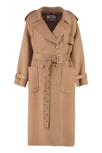 Long camelwool trench, Double Breasted Fendi woman