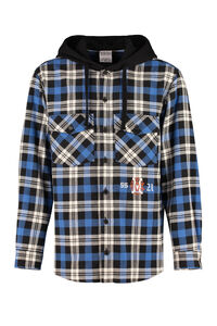 Hooded plaid overshirt, Checked Shirts Marcelo Burlon County of Milan man