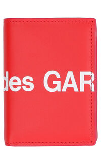 Huge logo print leather wallet, Wallets Comme des Garçons Wallet woman