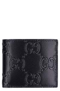 Leather flap-over wallet, Wallets Gucci man