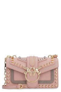Mini Love studded leather bag, Shoulderbag Pinko woman