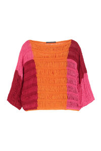 Knitted linen top, Blouses Alberta Ferretti woman