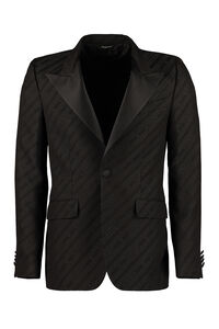 Cotton blend jacquard blazer, Single breasted blazers Givenchy man