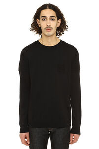 Crew-neck wool sweater, Crew necks sweaters Fendi man