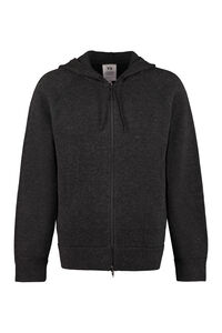 Hooded full-zip sweater, Knitted zip throughs adidas Y-3 man