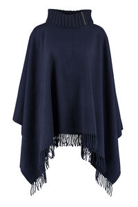 Wool and cashmere blend poncho, Capes Fabiana Filippi woman