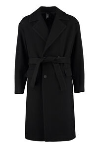 Lecce double-breasted virgin wool coat, Overcoats Hevò man
