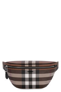 Checked e-canvas belt bag, Beltbag Burberry man