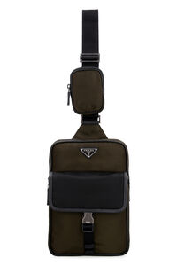 Nylon one-shoulder backpack, Backpack Prada man