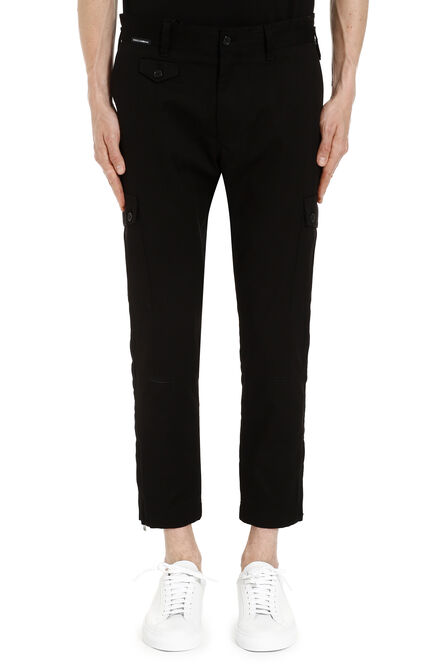Stretch cotton cargo trousers, Casual trousers Dolce & Gabbana man