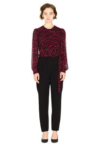 Crepe jumpsuit with bow, Full Length jumpsuits MICHAEL MICHAEL KORS woman