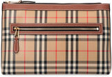 Canvas envelope bag with check motif, Poches Burberry man